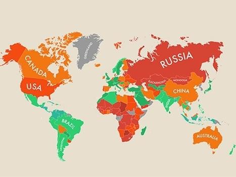 l'infographie du jour : dans quels pays est-on le plus heureux ? | Le bonheur | Scoop.it