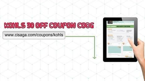 Kohls 30 Off Coupon Code in Store   Products Reviews   Scoop.it