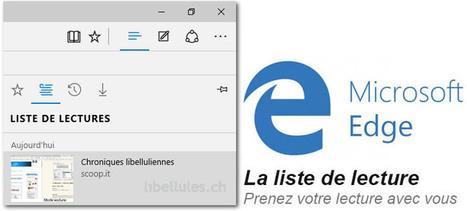 Apprendre à utiliser Microsoft Edge - La liste de lecture   Chroniques libelluliennes   Scoop.it