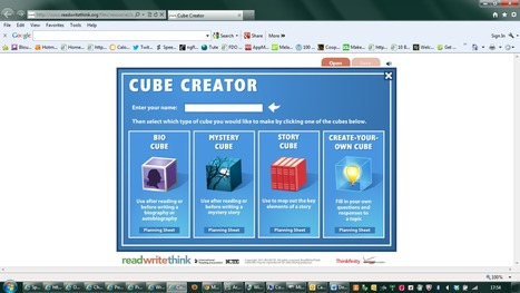 Cube Creator | Literacy Tools for 14 - 19 | Scoop.it