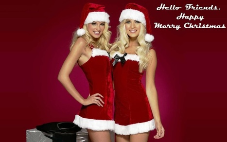 Merry Christmas Greeting Cards Hot Girls Santa Claus HD Wallpapers Photos | Wallpapers | Scoop.it