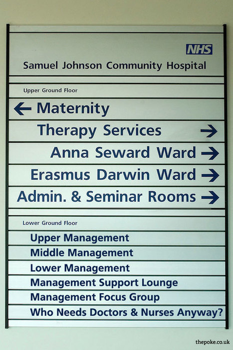 NHS Staff 'Sign Hack' Their Own Hospitals | Funny Signs | Scoop.it