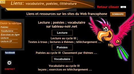 RESSOURCES POESIE LITTERATURE VOCABULAIRE CYCLE III | education | Scoop.it