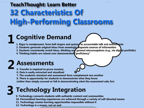 32 Characteristics Of High-Performing Classrooms | disruptive technolgies | Scoop.it