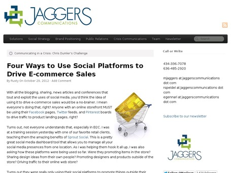 Four Ways to Use Social Platforms to Drive E-commerce Sales | Social Commerce Today | Scoop.it