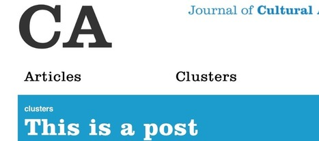 Announcing CA: Journal of Cultural Analytics   Humanities and their Algorithmic Revolution   Scoop.it