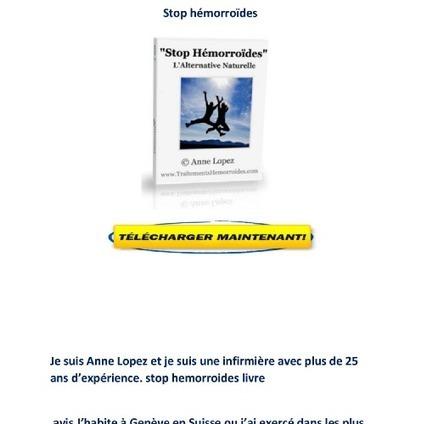 Telecharger Stop hemorroides pdf gratuit avis l...