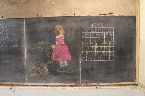 Haunting chalkboard drawings, frozen in time for 100 years, discovered in Oklahoma school | Web 2.0 for Education | Scoop.it