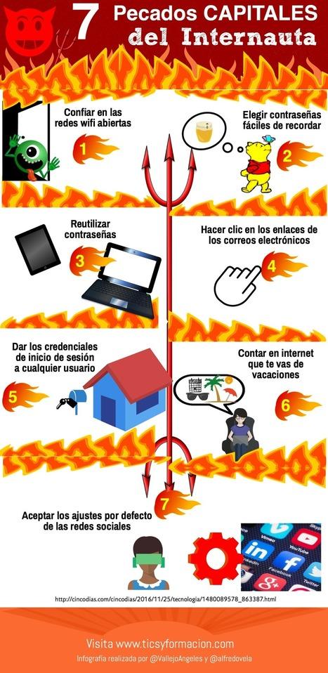 7 pecados capitales del internauta #infografia #infographic | De aquì, de allà y de otras partes... | Scoop.it