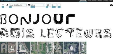 Aerial Bold. Un traitement de texte qui écrit avec des images satellite - Les Outils du Web | Les outils du Web 2.0 | Scoop.it