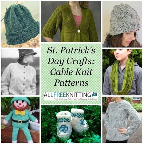 St. Patrick's Day Crafts: 40 Cable Knit Patterns | knooking | Scoop.it