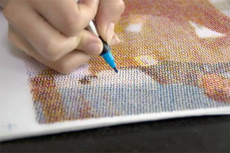 The Human Printer: CMYK Halftone Prints Recreated by Hand | art + tech | Scoop.it