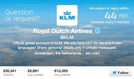 Woah! KLM airline now displays live Twitter customer service response time! | Social media marketing, analysis, strategy | Scoop.it
