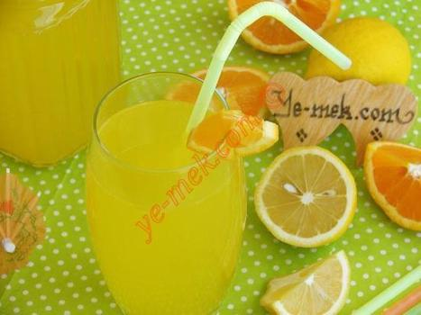 Orange Lemonade Recipe | Recipes (From Turkish Cuisine) In English | Vegetarian Food and Recipes | Scoop.it