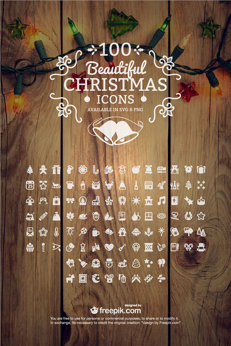 100 Free Christmas Icons (PNG + SVG) - Creative Beacon | Mundo diseño | Scoop.it