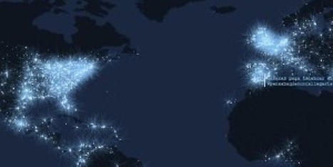L'activité de Twitter en planisphère - BFMTV.COM | Digital Marketing Cyril Bladier | Scoop.it