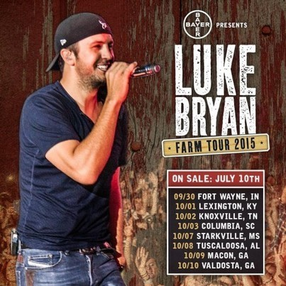 Luke Bryan Announces 7th Annual Farm Tour | Country Music Today | Scoop.it