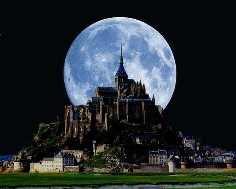 Moon at Saint Michael Mount   My Photo   Scoop.it