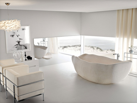20 Natural Stone Bathtubs – Adorable Home | Adorable Home - Inspirational Home Design and Decorating Ideas | Scoop.it