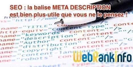 Meta Description et SEO : pourquoi et comment l'optimiser | Veille rédaction web, SEO & co | Scoop.it