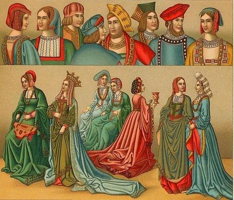 La Indumentaria en la Edad Media | Época Medieval: Vestuario y Calzado | Scoop.it