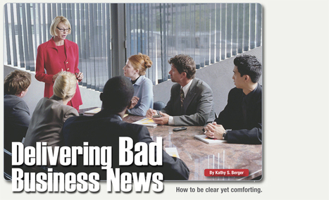 Toastmasters International - Delivering Bad News | BComm Collection 2: Chapter 9 | Scoop.it