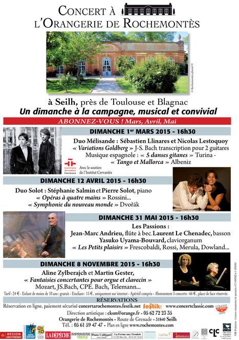 5ème saison de CONCERT à L'ORANGERIE DE ROCHEMONTèS | FOLLE de MUSIQUE | Scoop.it