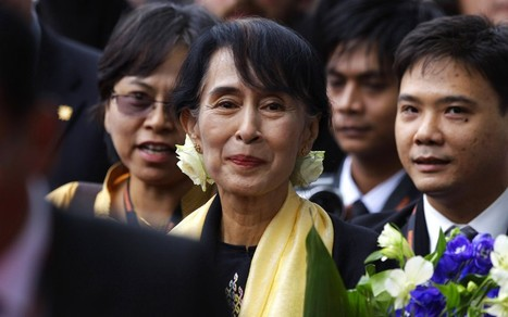 Aung San Suu Kyi arrives in Britain on 67th birthday - Telegraph.co.uk | ItsMyBirthdayToday | Scoop.it