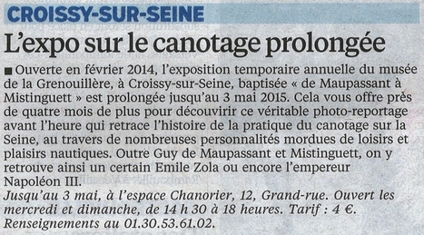 Exposition prolongée au musée de la Grenouillère | Espace Chanorier | Scoop.it