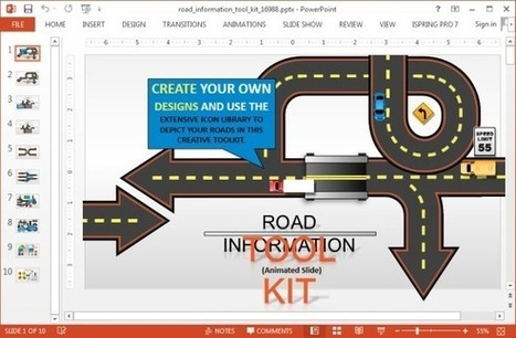 Animated Road Information Toolkit For PowerPoint | PowerPoint presentations and PPT templates | Scoop.it