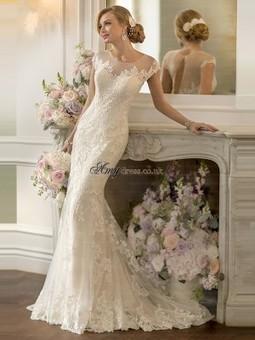 Cheap Sheath/Column Scoop Applique Wedding Dresses Sale at Amydress.co.uk | amydress | Scoop.it