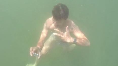 Samsung offre un S5 aux passants qui prennent un selfie sous l'eau du lac de Zurich | streetmarketing | Scoop.it