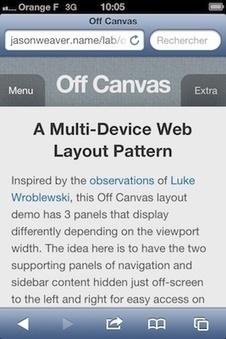 Des mises en page adaptives aux systèmes de navigation adaptatifs | Ergonomie web, design d'interface et écriture pour le web | Scoop.it