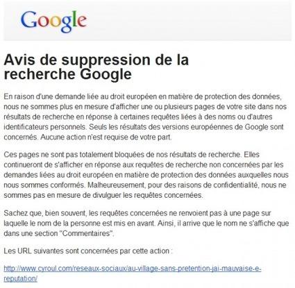 Le nettoyage de mauvaise réputation sur Internet - Cyroul | L'E-Réputation | Scoop.it