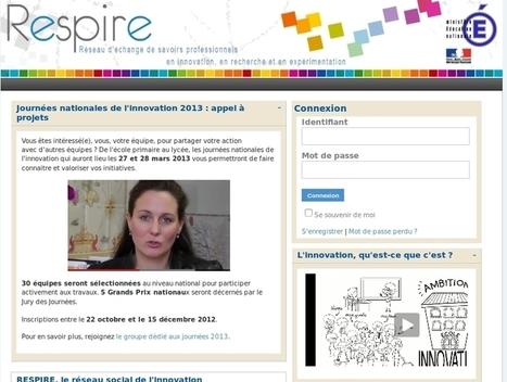 RESPIRE : une bouffée d'air pour l'innovation - Les Cahiers pédagogiques | Lean and enterprise 2.0 | Scoop.it