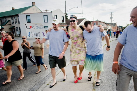 Men don heels for domestic violence awareness - The Evening Sun | Consciousness | Scoop.it