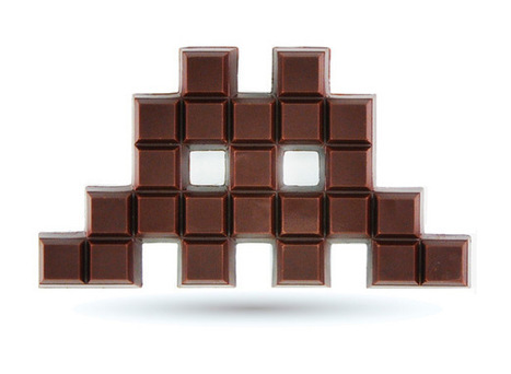 Space Invaders de chocolate « Nerdgasmo | VIM | Scoop.it