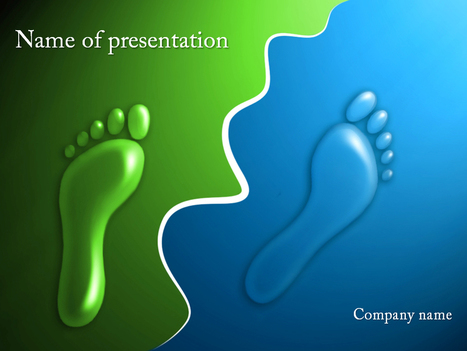 Download free Footprints powerpoint template for presentation | Powerpoint Templates and Themes | Scoop.it