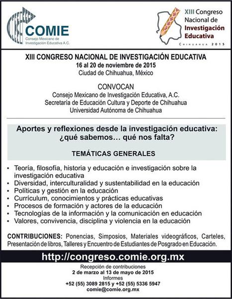 XIII Congreso Nacional de Investigación Educativa | Educacion, ecologia y TIC | Scoop.it