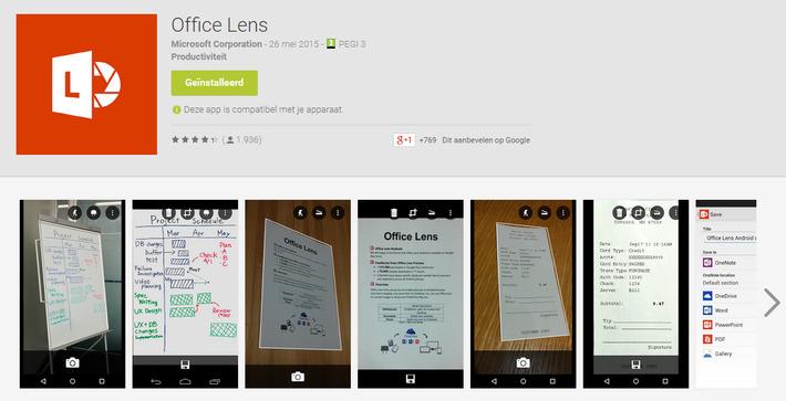Gebruik je 'Android'-smartphone als een scanner met Microsoft Office Lens | Educatief Internet - Gespot op 't Web | Scoop.it