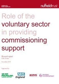 NHS Commissioning Support – Role of Voluntary Sector | The Nuffield Trust | Healthcare Quality & Governance | Scoop.it