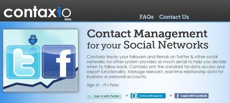 Contaxio | Gérer vos listes de followers et amis | Jumped on | Scoop.it