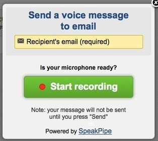 Free Technology for Teachers: Use SpeakPipe to Send Voice Messages to Email Recipients | Technology and language learning | Scoop.it