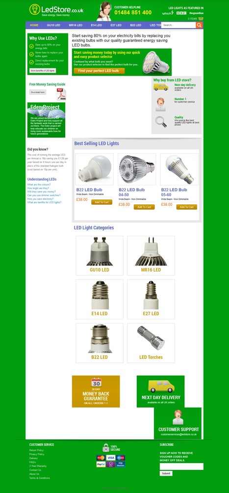 Ledstore Led Lights eCommerce Store | Magento eCommerce CMS Design and Development | Scoop.it