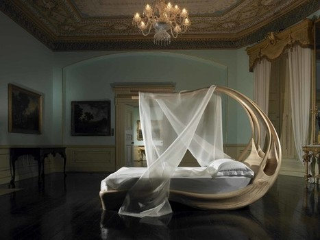 Cocoon-Inspired Canopy Bed in a Minimalist Bedroom   Decorating Ideas - Home Design Ideas   Scoop.it