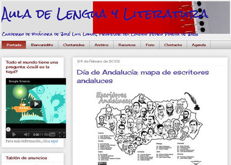 AULA DE LENGUA Y LITERATURA. Cuaderno de bitácora de José Luis Lomas, profesor del Colegio Pedro Poveda de Jaén   En pruebas   Scoop.it