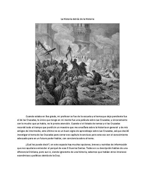La Historia detrás de la Historia | Las Guerras Santas | Scoop.it