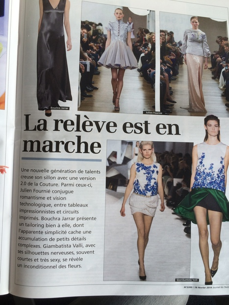 La relève est en marche, Julien Fournié, Journal du Textile | FashionLab | Scoop.it