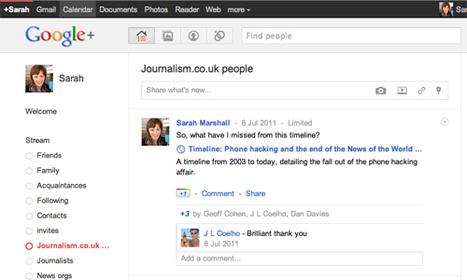 Ten ways journalists can use Google+ | Editors' Blog | Journalism.co.uk | Researching Google Plus | Scoop.it
