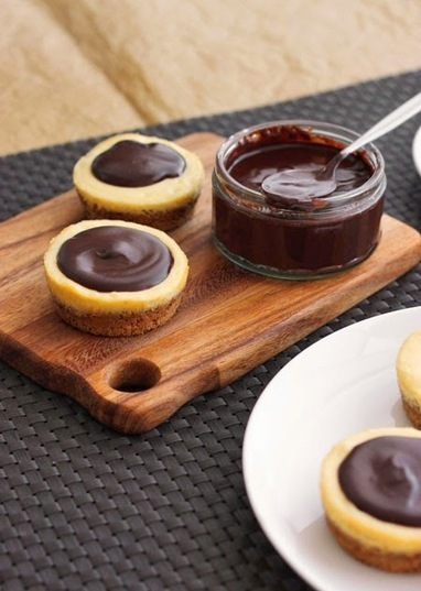 #Dessert / Chocolate Chocolate Chip Cookie Cheesecakes | Cakes | Scoop.it